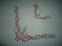 bed sheet design for hand paintings