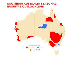 states australia map australian bushfire season nsw qld vic and wa at severe risk
