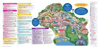 Universal Park Map Parkscope The New Walt Disney World Guide Maps