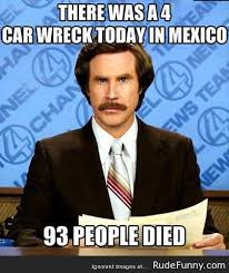Rude Funny Memes - 4 car wreck in mexico is something different http www rudefunny