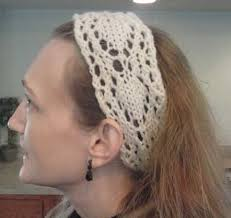 lace headband arrow lace using charts as a pattern roving crafters