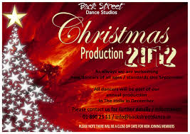 christmas production 2012 poster back street dance