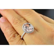 2 carat halo engagement ring oval cut 2 carat morganite and halo engagement ring for