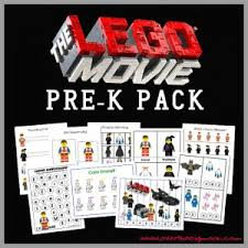the lego movie free pre k worksheet packet lego movie movies
