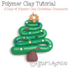 polymer clay tutorial 5 days of ornaments tree