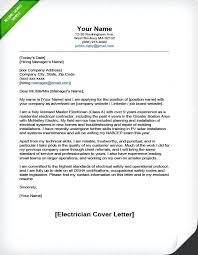 cover letter resumes samples professional electrician resume