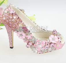 wedding shoes jeweled heels 2017 new design handmade women luxury peacock and hot