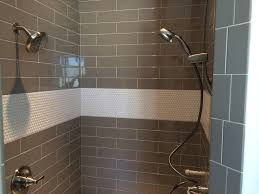 Master Bathroom Shower Tile Ideas by Master Shower Tile Ideas Penny Tile And Large Grey Brick Lay