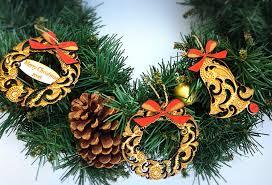 christmas ornament wreath wood wreath custom ornament
