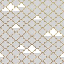 clouds self adhesive wallpaper in grey and gold by tempaper