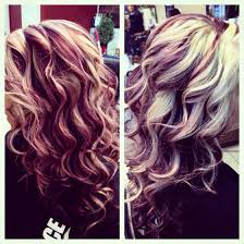 blonde purple u0026 dark brown with red love it hair