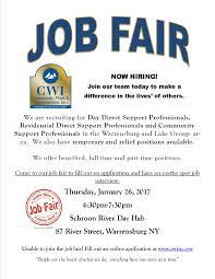 job fair january 26 2017 community work u0026 independence inc