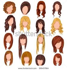 names of different haircuts vector design beautiful collection female hairdo stock vector