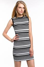 chevron stripe knit bodycon dress 1508305 white u2013 global designer
