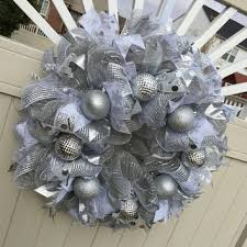 white deco mesh deco mesh christmas wreath peppermint from what s on your door