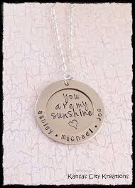 Mom Necklace With Kids Names Mom Nickel Silver And Great Gifts On Pinterest