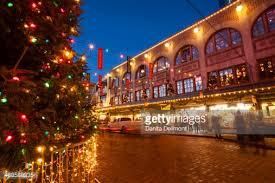 pike place market at christmastime seattle washington usa stock