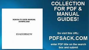 nikon f5 user manual download video dailymotion
