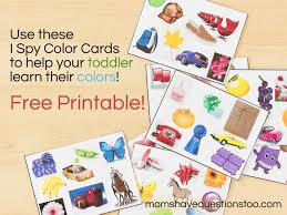 Halloween I Spy Printable Color Games For Toddlers Part 2 I Spy Cards Moms Have