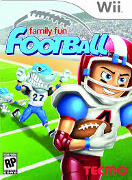 amazon com family fun football nintendo wii video games