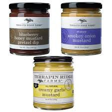 gourmet mustard gourmet mustard gift set 3 pack of mustards from terrapin ridge
