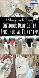What Kind Of Fabric To Make Curtains How To Make Diy Curtains Out Of Drop Cloths Diy Curtains Drop
