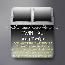 Gray Twin Xl Comforter Twin Xl Bedding College Bedding Customized College Bedding