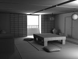 3d japanese room cgtrader