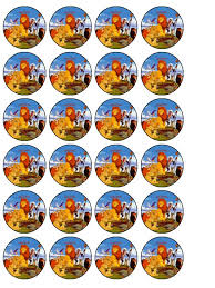 lion king cake toppers 24 x the lion king edible wafer paper cup cake toppers