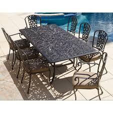 balwyn cast aluminium 9 piece dining setting table includes