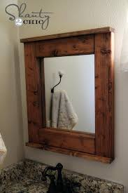 Wood Mirrors Bathroom Ideas Rustic Mirrors For Bathrooms Or Wood Frame Mirror Bathroom