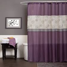 beautiful shower curtain closed white bath tub side simple towels