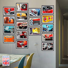 wall stickers uk wall art stickers kitchen wall stickers wf10007 hd vintage cars collage mural designed and made in uk