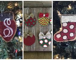 burlap ornaments etsy