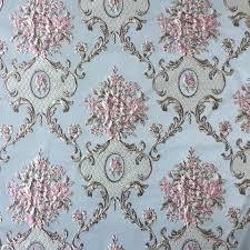 Curtain Upholstery Fabrics Aliexpress Com Buy Luxurious Jacquard Woven Light Blue Khaki