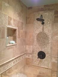 bathroom shower tile ideas wood accent wall and ceiling impressive bathroom white wooden painted flooring idea white ceramic soaker tub dark floral motif wallpaper crystal hanging