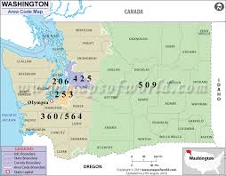 map of area codes washington area codes map of washington area codes