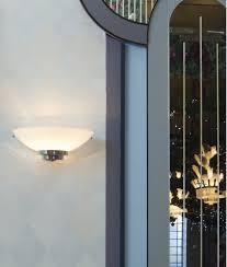 Art Deco Wall Lights Chrome U0026 Opal Glass Art Deco Wall Light