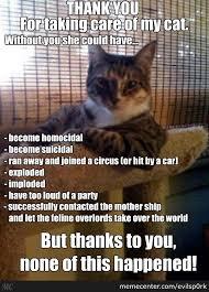 Cat Sitting Meme - all hail the cat sitter by evilsp0rk meme center