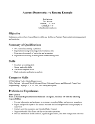 Resume Examples For No Experience Resume For Customer Service Representative With No Experience