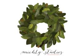 digital clip magnolia wreath clipart wedding
