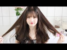 should i get bangs for my hair to hide wrinkles see through bangs tutorial i cut my hair youtube