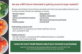 food and health network of scny strengthening regional food