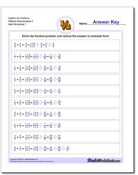 worksheets by math crush fractions adding unlike 4th grade ws add