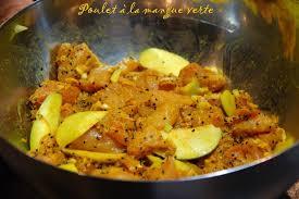 cuisiner la mangue poulet à la mangue verte ma cuisine jaune citron