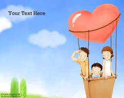 write quote on family in balloon picture