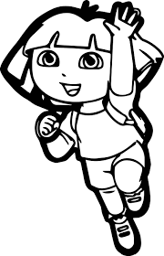 dora coloring book pages themes dora cartoon coloring page wecoloringpage