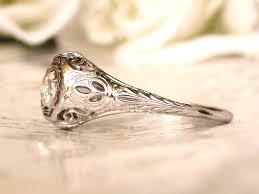 carved engagement rings exquisite antique engagement ring 0 36ct european cut diamond