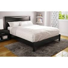 Black Platform Bed South Shore Step One Size Platform Bed In Black 3070203