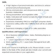 sample application letter for marketing graduates